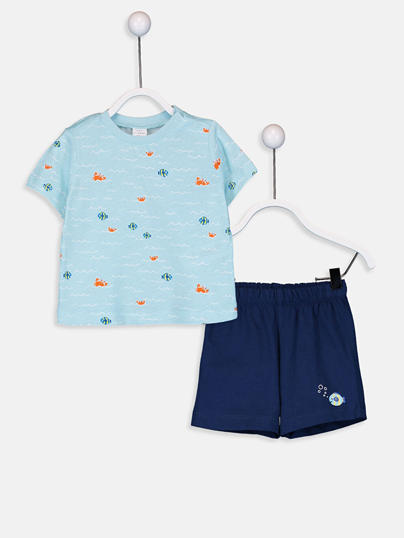 Mavi Erkek Bebek Pijama Takımı 9SM728Z1 LC Waikiki