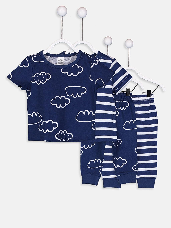 Beyaz Erkek Bebek Pamuklu Pijama Takımı 4'lü 9SN338Z1 LC Waikiki