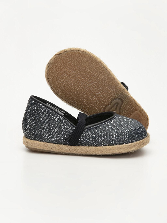Kız Bebek Kız Bebek Simli Espadril Ayakkabı