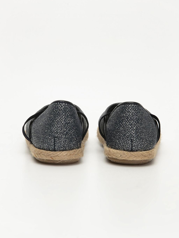 Kız Bebek Simli Espadril Ayakkabı