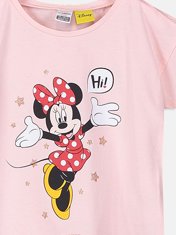 Kız Bebek Kız Bebek Minnie Mouse Baskılı Tişört