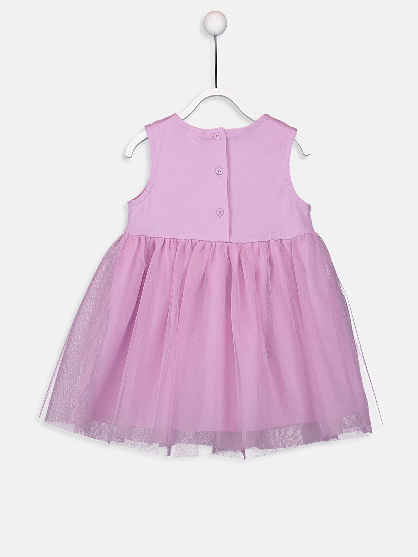 %100 Pamuk %100 Pamuk  Kız Bebek Dantelli Elbise