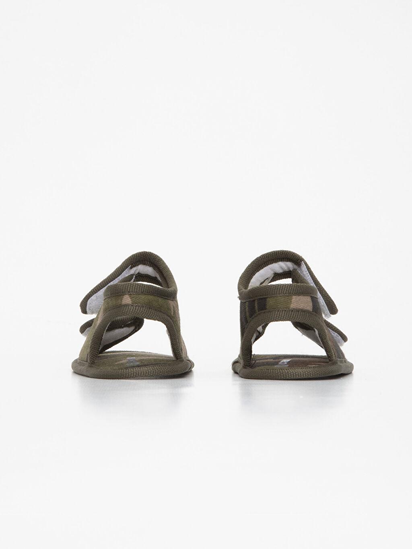 Erkek Bebek Cırt Cırtlı Kamuflaj Sandalet
