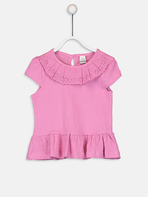 Pembe Kız Bebek Pamuklu Tişört 9SQ741Z1 LC Waikiki