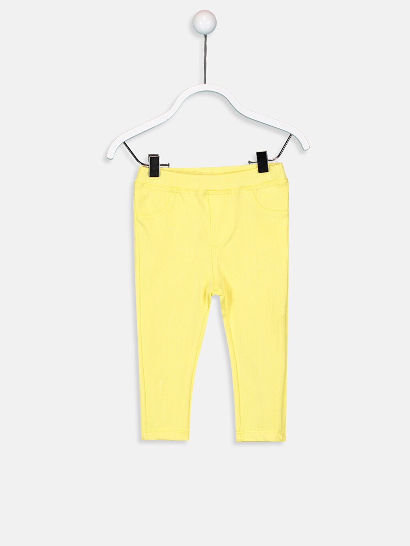 Sarı Kız Bebek Pamuklu Tayt 9SR020Z1 LC Waikiki