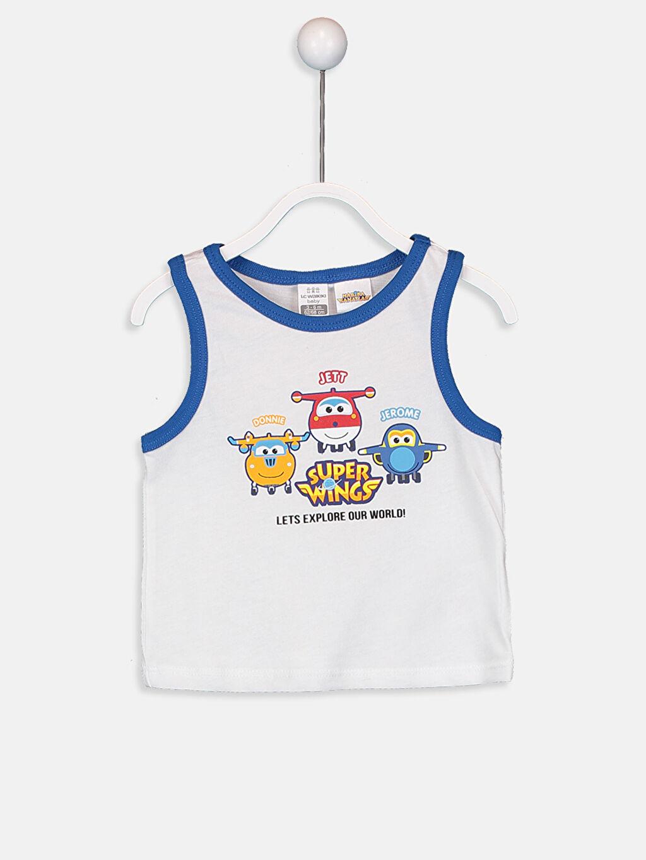 Erkek Bebek Erkek Bebek Harika Kanatlar Baskılı Pijama Takımı