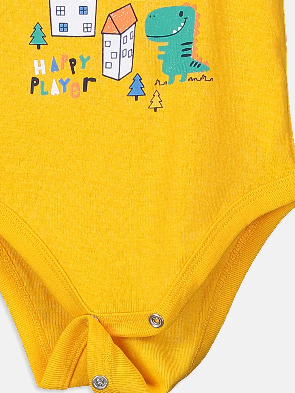 LC Waikiki Sarı Erkek Bebek Çıtçıtlı Body 2'li