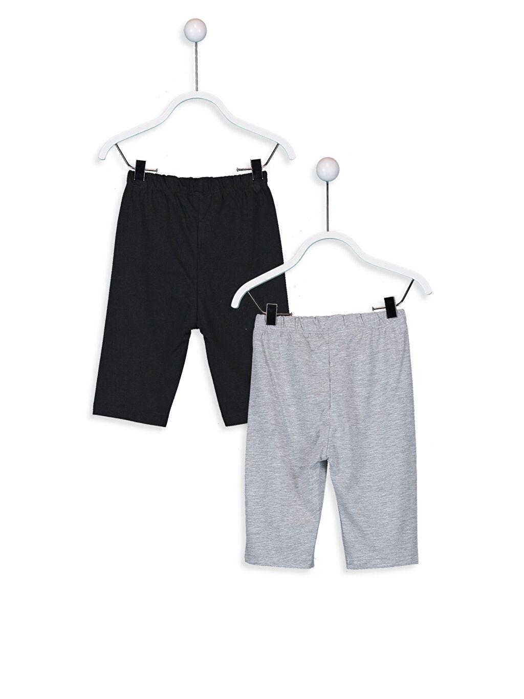 %50 Pamuk %50 Polyester Pijamalar Standart Erkek Bebek Pijama Altı 2'li