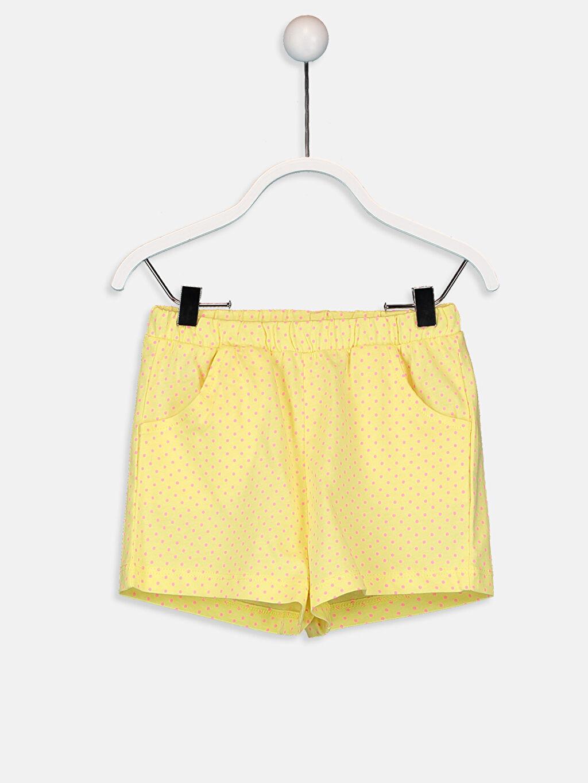 Sarı Kız Bebek Puantiyeli Şort 9SS161Z1 LC Waikiki
