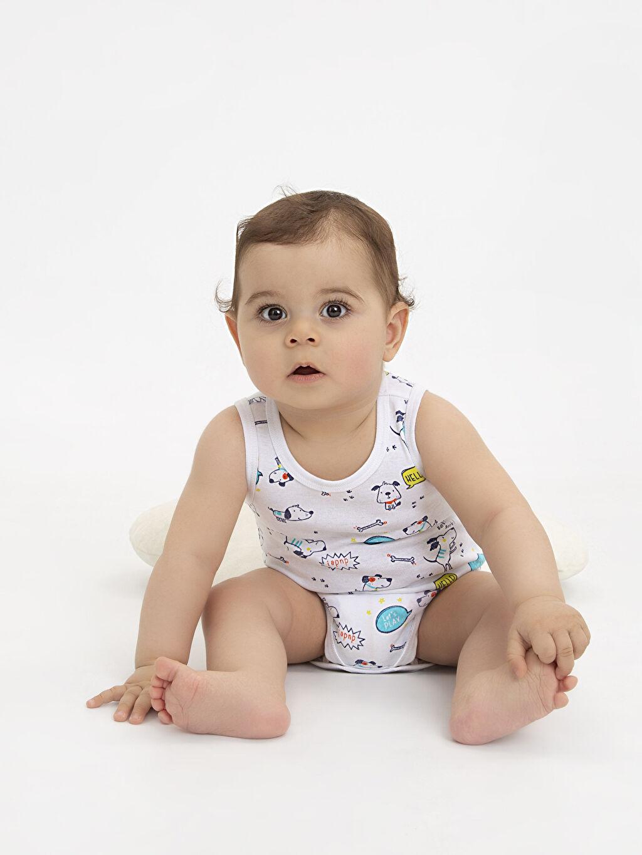 9SS174Z1 Erkek Bebek Çıtçıtlı Body 2'li