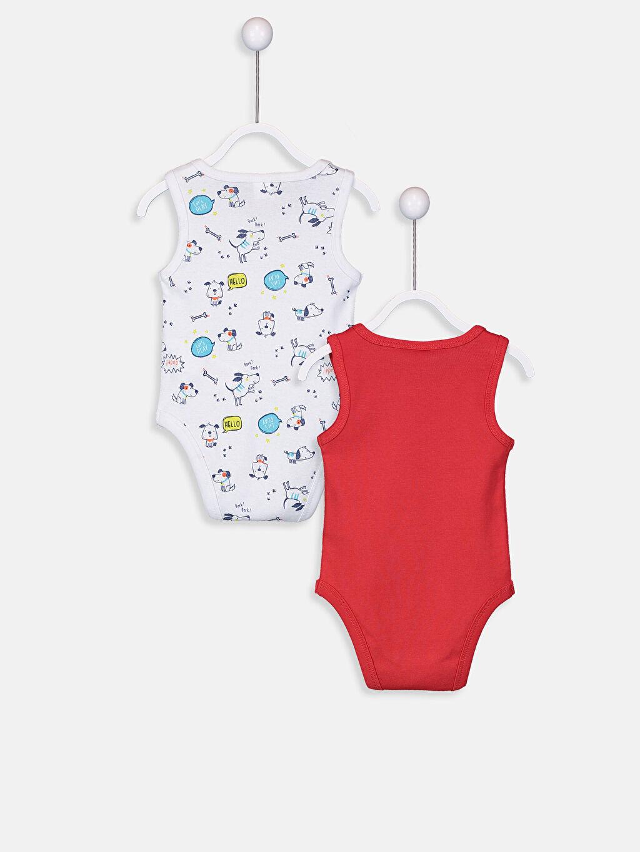 %100 Pamuk  Erkek Bebek Çıtçıtlı Body 2'li
