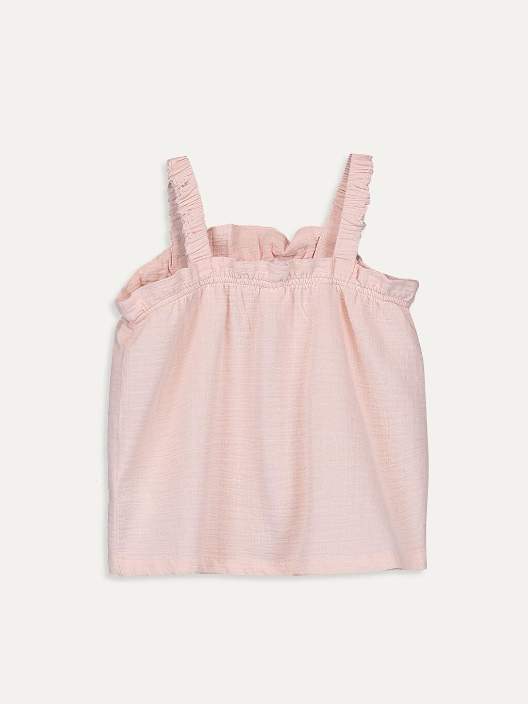 %100 Pamuk Standart Düz Kolsuz Bluz Kız Bebek Bluz