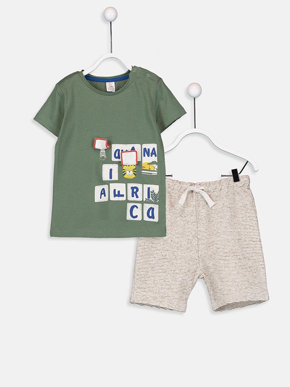 Erkek Bebek Pamuklu Tişört ve Şort