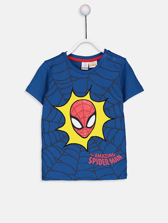Mavi Erkek Bebek Spiderman Baskılı Tişört 9ST641Z1 LC Waikiki