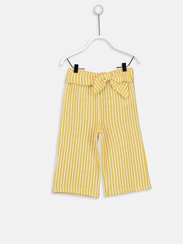 Sarı Kız Bebek Çizgili Pantolon 9ST753Z1 LC Waikiki