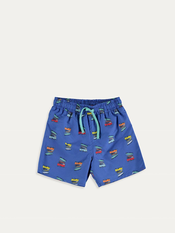 %100 Polyester %100 Polyester %100 Polyester  Erkek Bebek Desenli Yüzme Şort