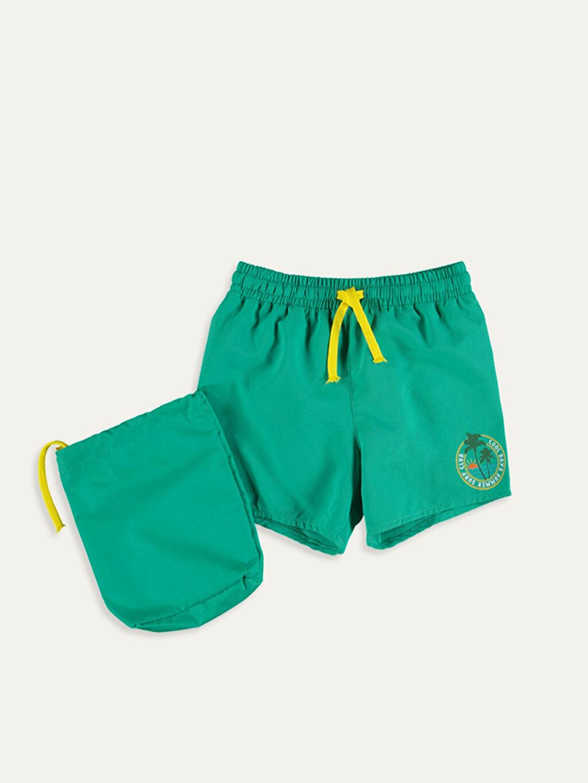 Yeşil Erkek Bebek Yüzme Şort 9ST885Z1 LC Waikiki