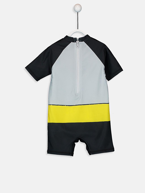 %81 Polyester %19 Elastan  Erkek Bebek Batman Baskılı Tulum Mayo