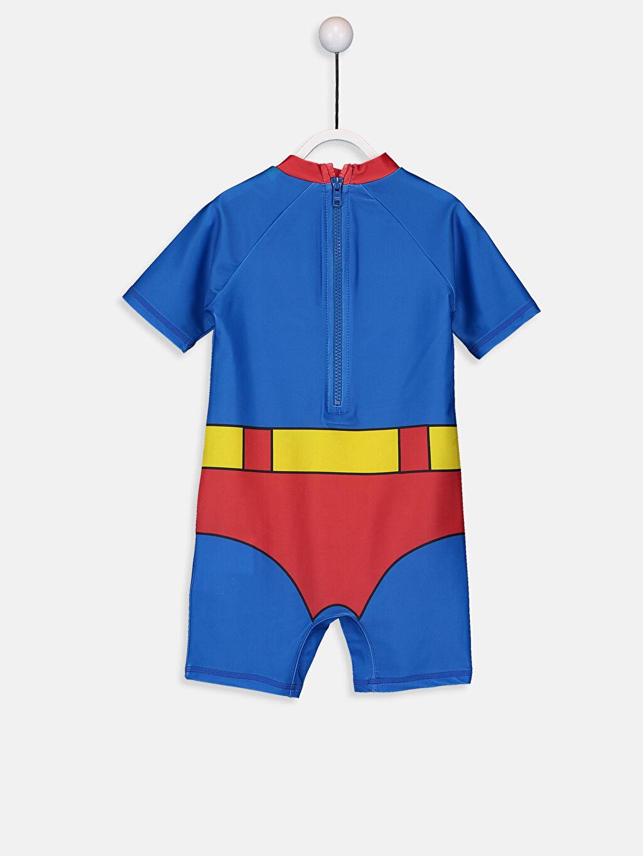 %81 Polyester %19 Elastan  Erkek Bebek Süperman Tulum Mayo