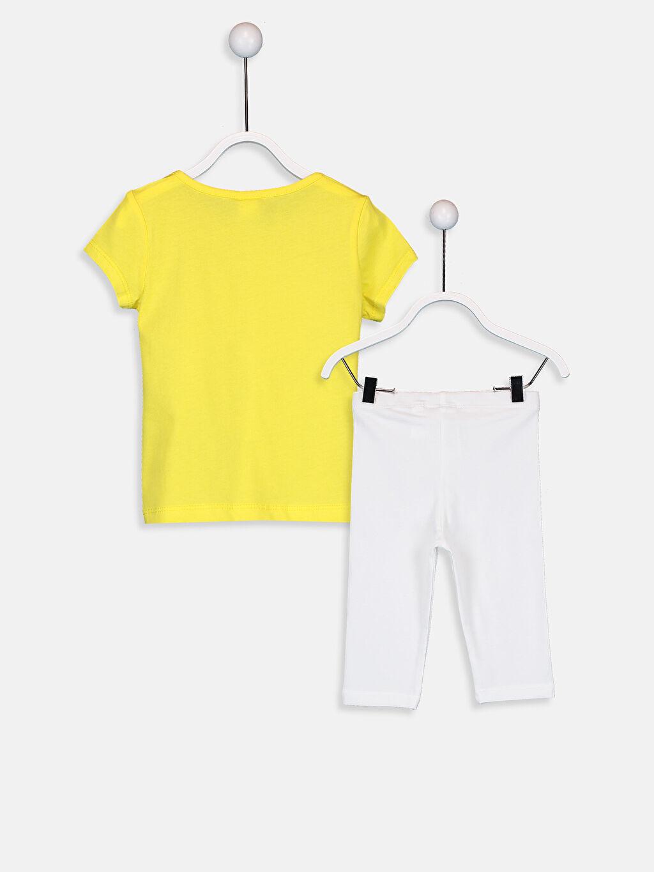 %100 Pamuk %94 Pamuk %6 Elastan  Kız Bebek Tişört ve Tayt