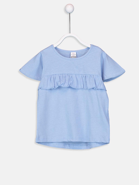 Mavi Kız Bebek Pamuklu Tişört 9SU346Z1 LC Waikiki