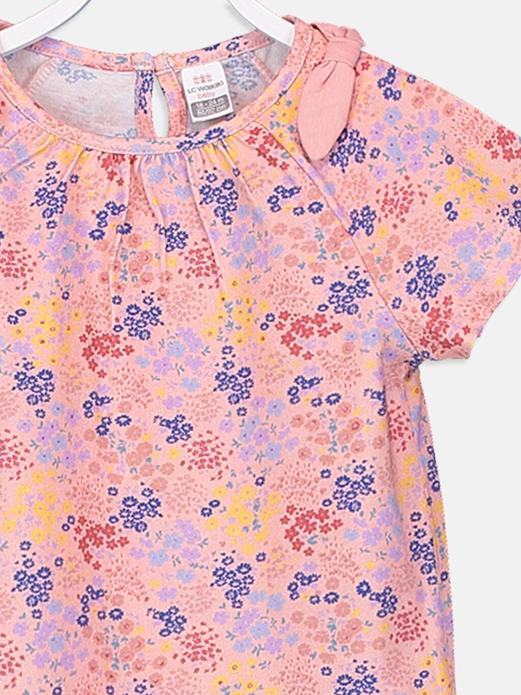 Kız Bebek Kız Bebek Desenli Pamuklu Tişört