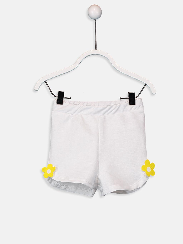 Beyaz Kız Bebek Pamuklu Şort 9SU504Z1 LC Waikiki