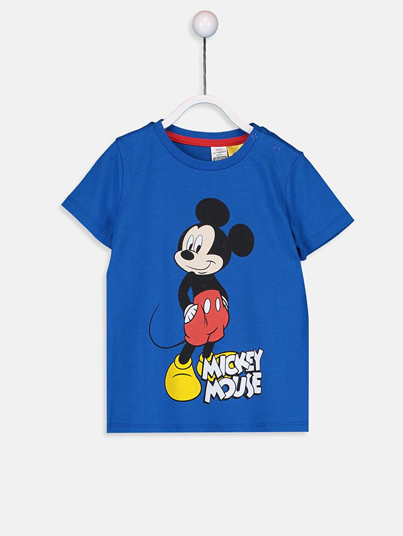 Mavi Erkek Bebek Mickey Mouse Baskılı Tişört 9SV144Z1 LC Waikiki
