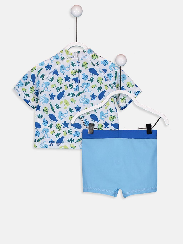 %79 Polyester %21 Elastan  Erkek Bebek Yüzme Takım