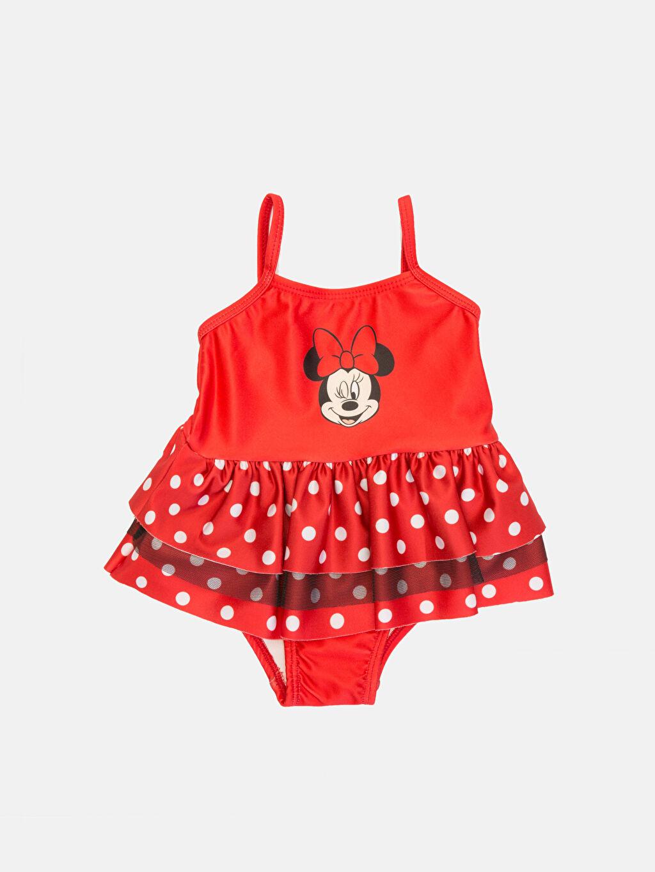 Kırmızı Kız Bebek Minnie Mouse Baskılı Mayo 9SV570Z1 LC Waikiki