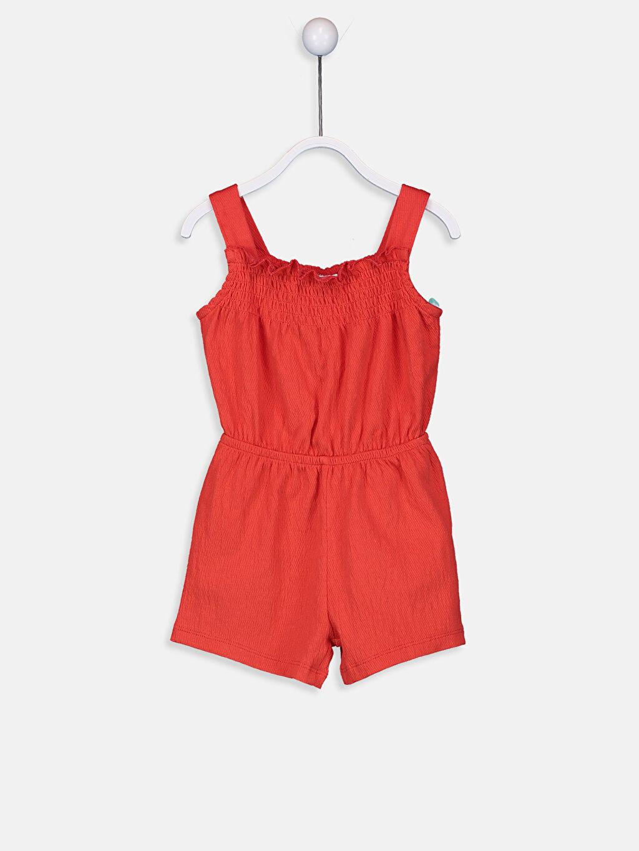 Kırmızı Kız Bebek Şort Salopet 9SV617Z1 LC Waikiki