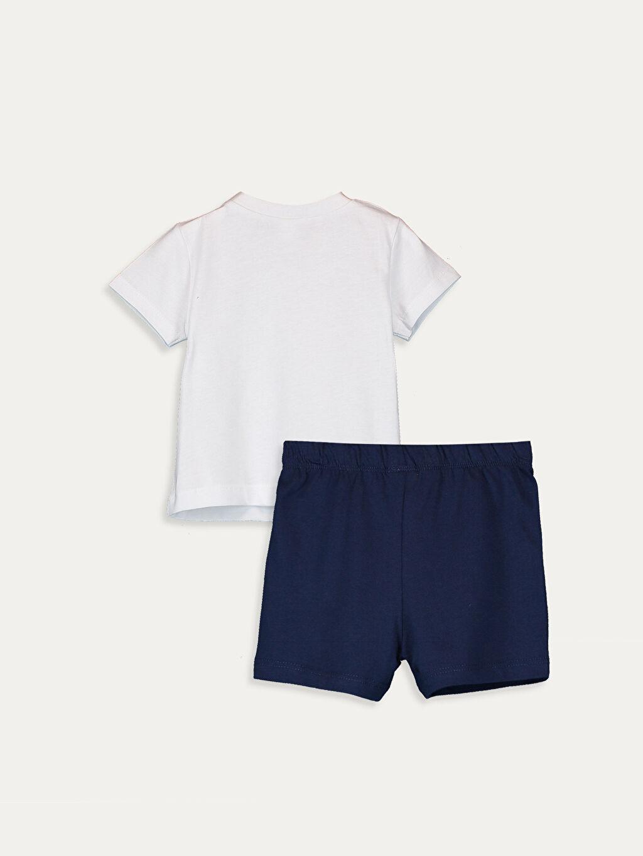 %100 Pamuk Pijamalar Standart Erkek Bebek Pijama Takımı