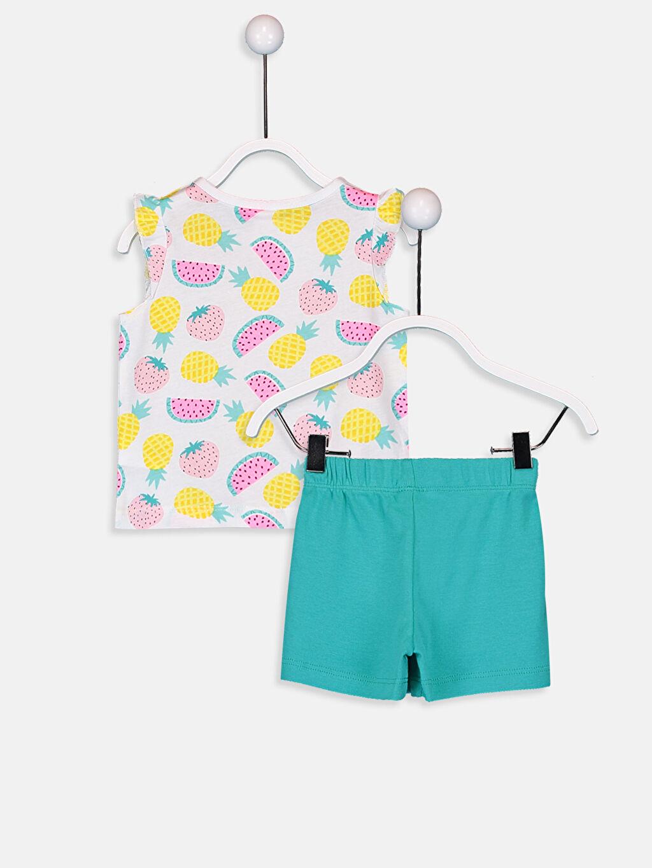 %100 Pamuk Pijamalar Standart Kız Bebek Baskılı Pijama Takımı
