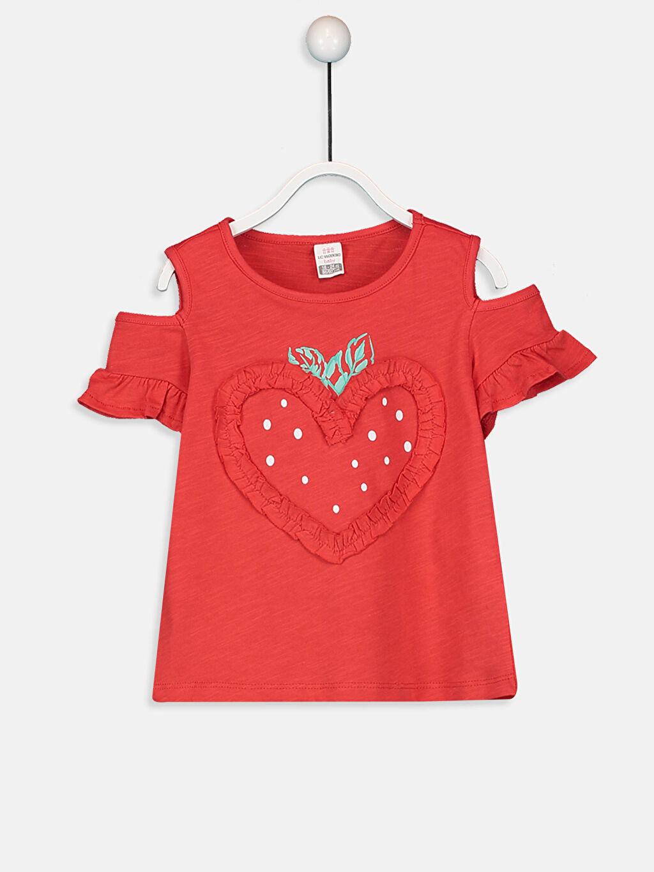 Kırmızı Kız Bebek Baskılı Tişört 9SY508Z1 LC Waikiki