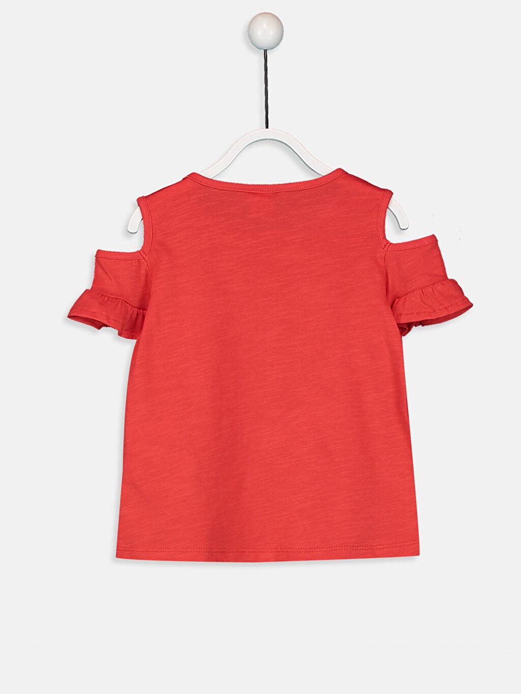 %100 Pamuk Baskılı Kısa Kol Tişört Bisiklet Yaka Standart Kız Bebek Baskılı Tişört