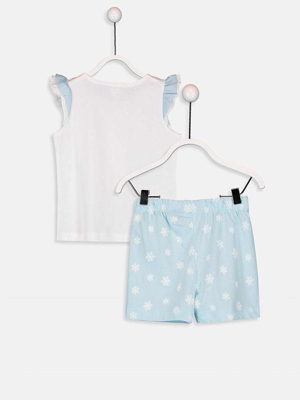 %100 Pamuk Standart Pijamalar Kız Bebek Elsa Desenli Pijama Takımı
