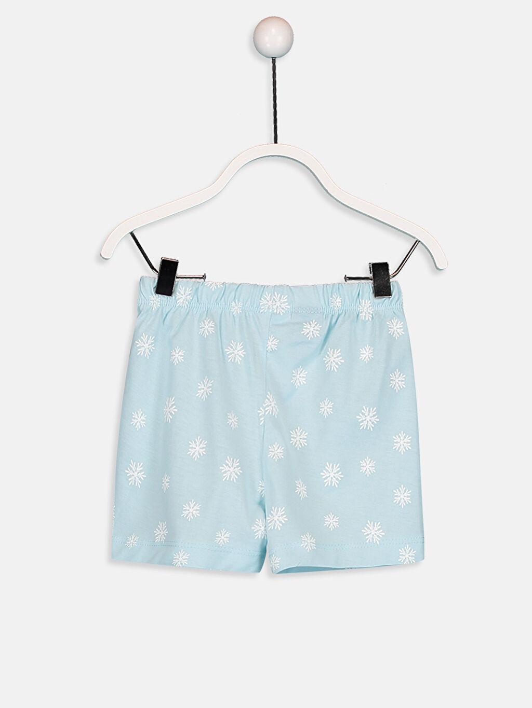 Kız Bebek Elsa Desenli Pijama Takımı