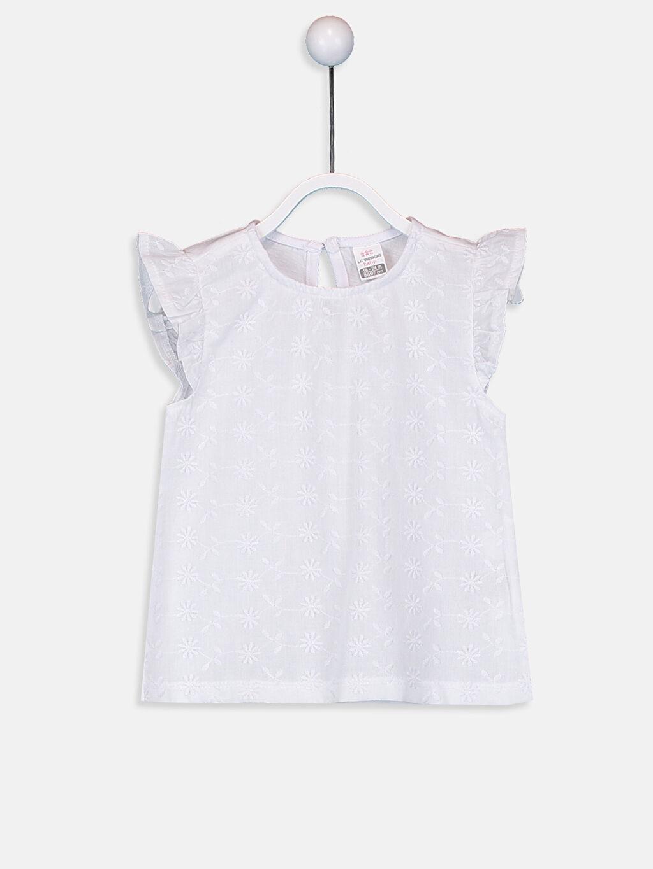 Beyaz Kız Bebek Pamuklu Tişört 9SY547Z1 LC Waikiki