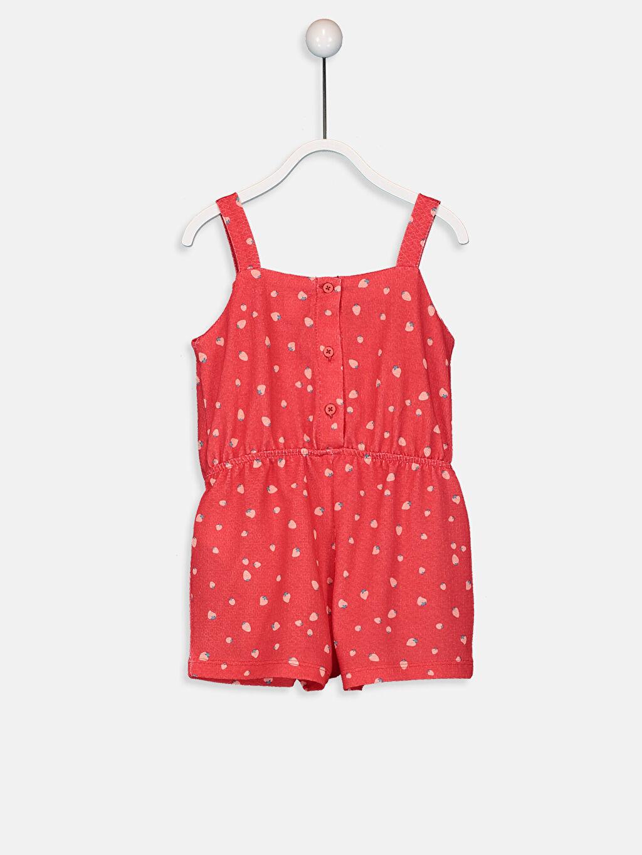 %99 Polyester %1 Elastan %100 Pamuk Şort Kız Bebek Baskılı Şort Salopet