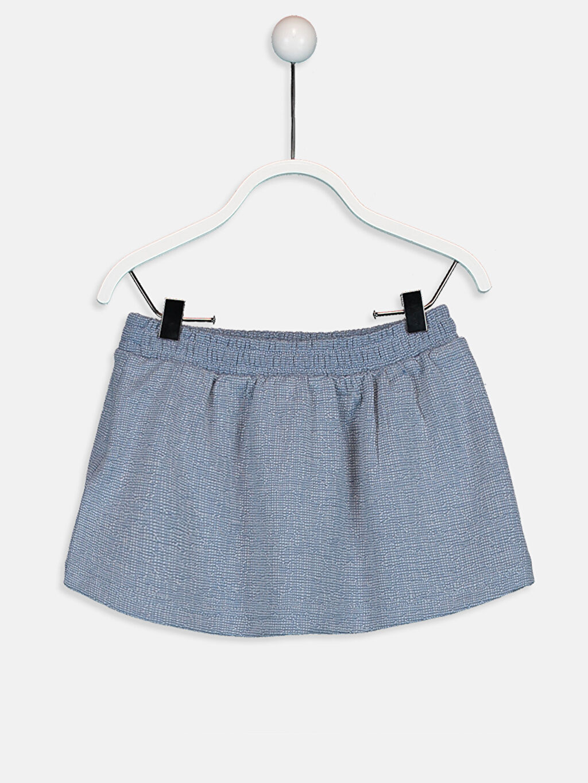 %85 Polyester %13 Viskoz %2 Elastan Düz Kız Bebek Pamuklu Etek