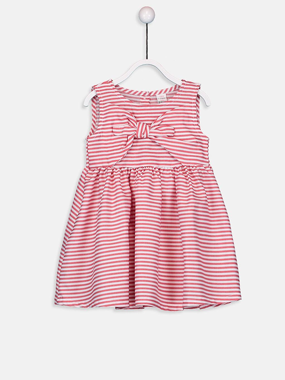 Kırmızı Kız Bebek Poplin Elbise 9SA382Z1 LC Waikiki