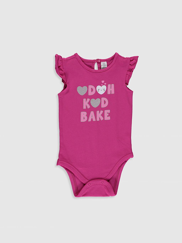Pembe Kız Bebek Baskılı Çıtçıtlı Body 9SA834Z1 LC Waikiki