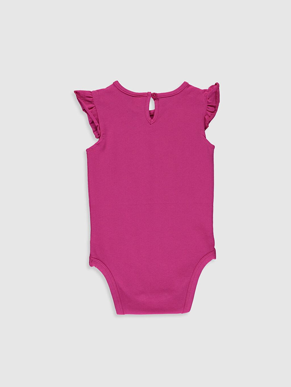 %96 Pamuk %4 Elastan  Kız Bebek Baskılı Çıtçıtlı Body