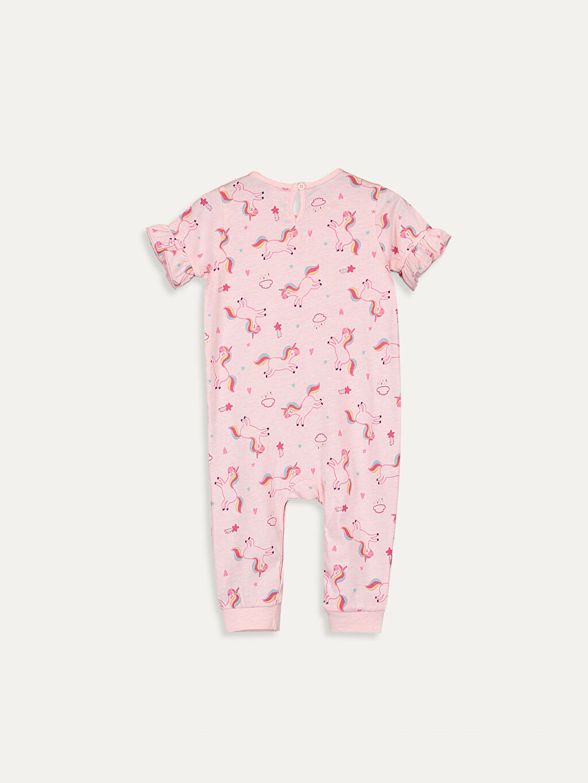 %93 Pamuk %7 Polyester Tulum Standart Kız Bebek Desenli Tulum