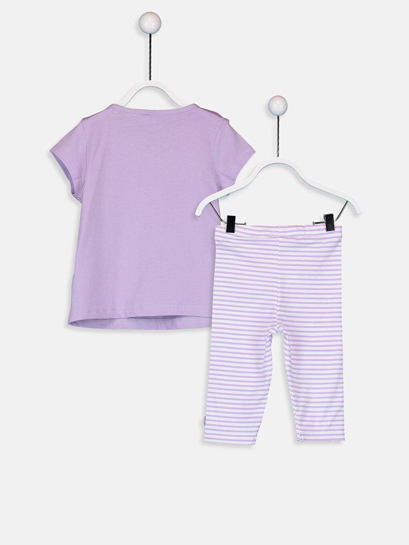 %100 Pamuk %94 Pamuk %6 Elastan  Kız Bebek Baskılı Tişört ve Şort