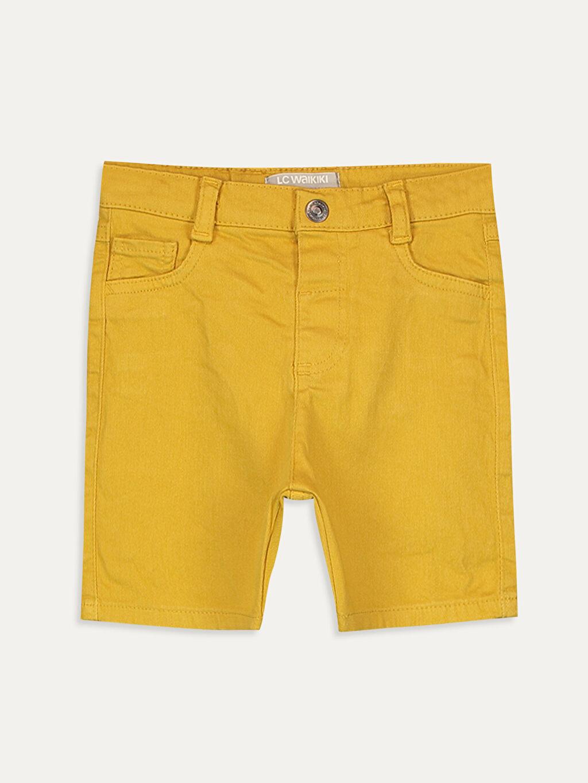 Sarı Erkek Bebek Gabardin Bermuda Şort 9SB158Z1 LC Waikiki
