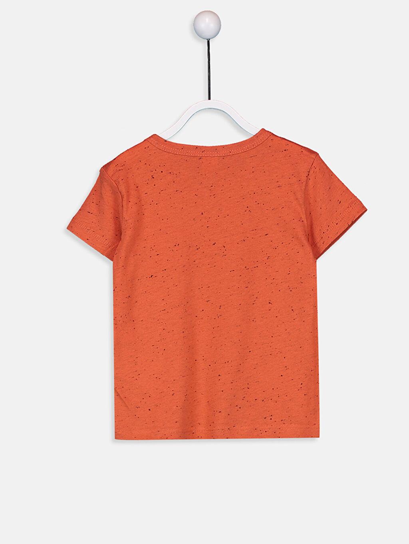 %98 Pamuk %2 Polyester Düz Kısa Kol Tişört Bisiklet Yaka Normal Erkek Bebek Basıc Tişört
