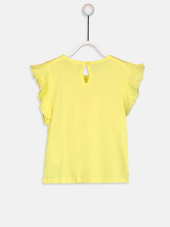%100 Pamuk Baskılı Kısa Kol Tişört Bisiklet Yaka Standart Kız Bebek Baskılı Pamuklu Tişört