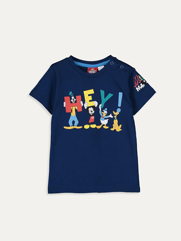 Lacivert Erkek Bebek Disney Baskılı Pamuklu Tişört 9SB735Z1 LC Waikiki