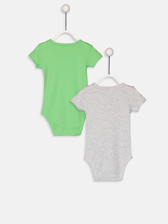 %100 Pamuk  Erkek Bebek Pamuklu Çıtçıtlı Body 2'li